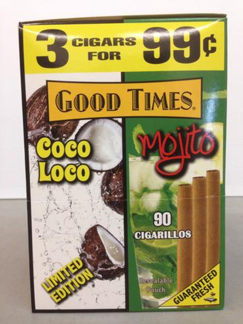 Good Times Cigarillos Coco Loco/Mojito 30 Pouches of 3
