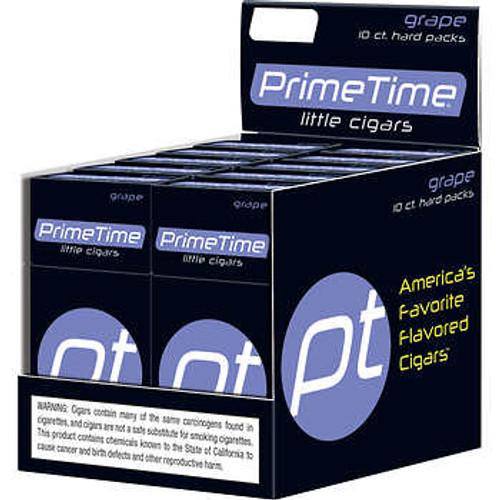 Prime Time Little Cigars Grape 10 Packs of 10