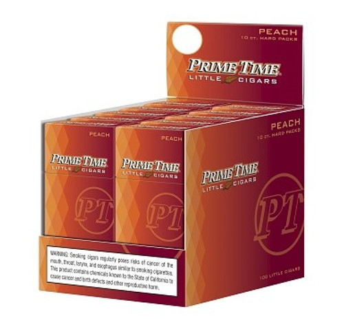 Prime Time Little Cigars Peach 10 Packs of 10