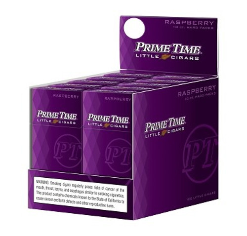 Prime Time Little Cigars Raspberry 10 Packs of 10