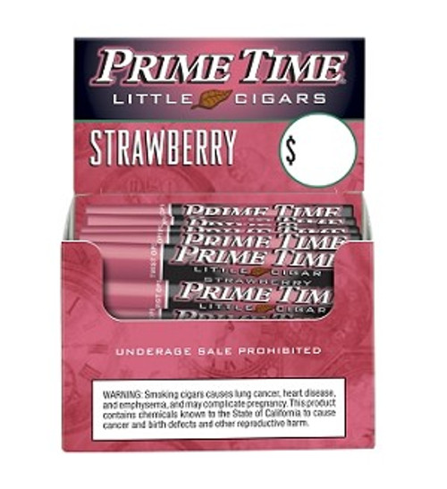 Prime Time Little Cigars Strawberry 50Ct