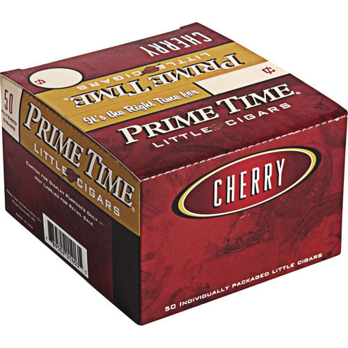 Prime Time Little Cigars Cherry 50Ct