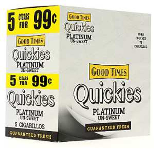Good Times Quickies Cigarillos Platinum Un-Sweet