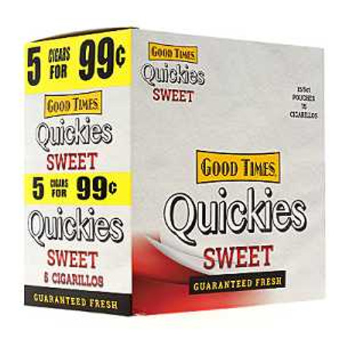 Good Times Quickies Cigarillos Sweet 15 Pouches of 5