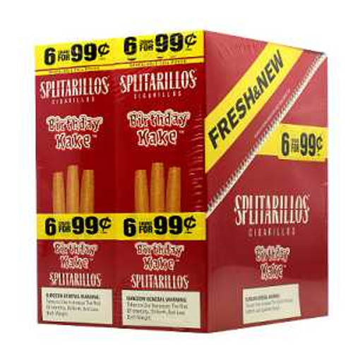 Splitarillos Cigarillos Birthday Cake 30 Pouches of 3
