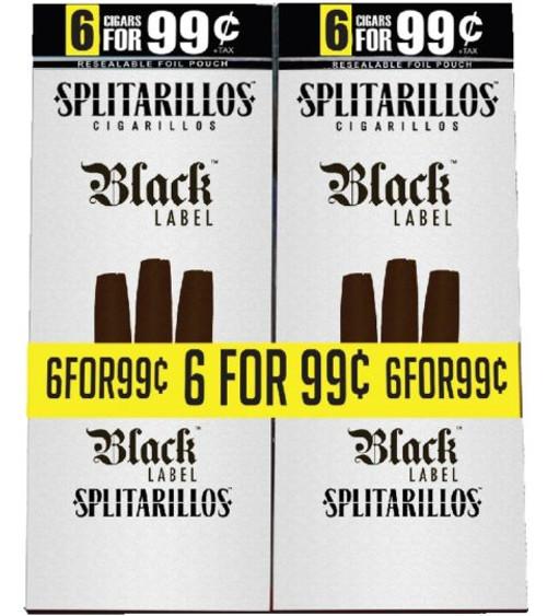Splitarillos Cigarillos Black Label 30 Pouches of 3