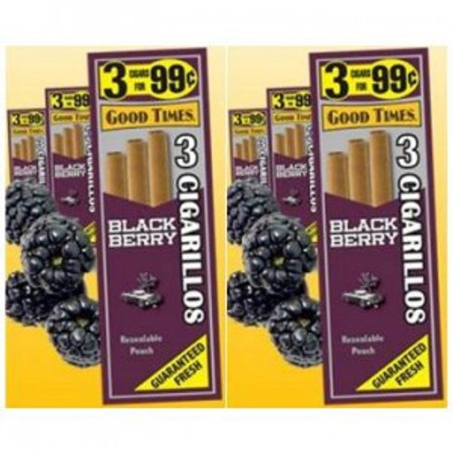 Good Times Cigarillos BlackBerry 30 Pouches of 3
