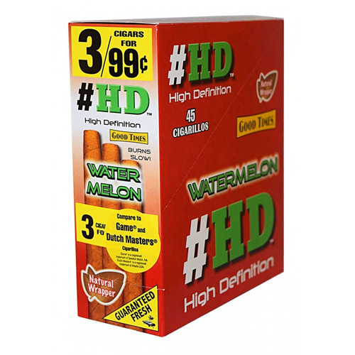 Good Times HD Cigarillos Watermelon 15 Pouches of 3