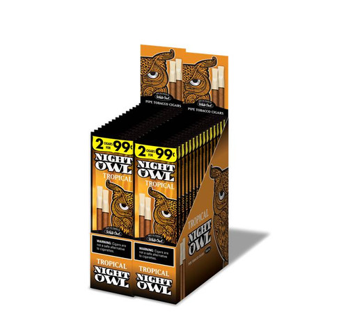 Night Owl Pipe Tobacco Cigars Tropical 15 Packs of 2