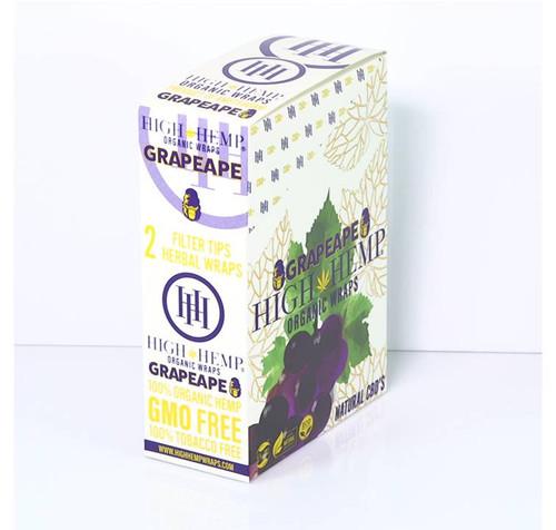High Hemp Organic Wraps Grapeape 25Ct/2