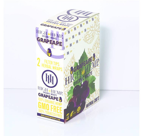 High Hemp Organic Wraps Grapeape 25Ct/2