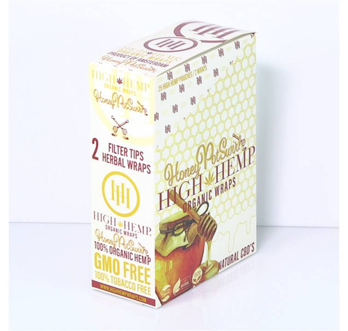 High Hemp Organic Wraps Honey Pot Swirl 25Ct/2