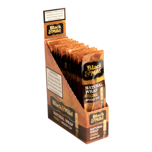 Black & Mild Natural Wrap Natural Wood Tip 15/1 Cigars