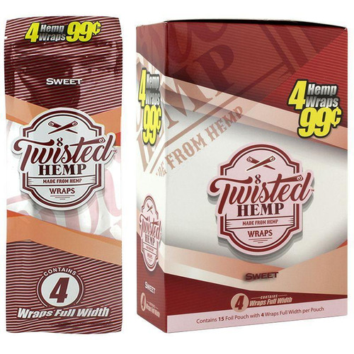 Twisted Hemp Wraps Sweet 15 Pouches of 4