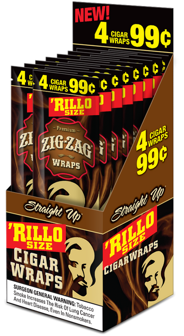 Zig Zag Rillo Wraps Straight Up 15 Pouches of 4
