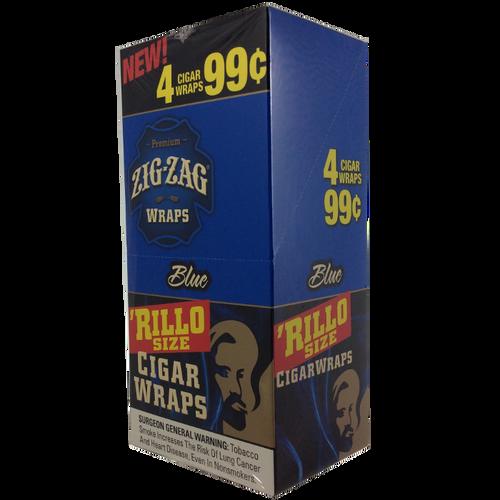 Zig Zag Rillo Wraps Blueberry 15 Pouches of 4