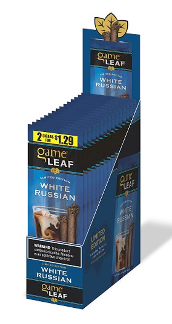 Game Leaf Cigars White Russian 15 Pouches of 2
