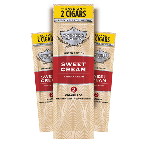 Swisher Sweets Cigarillos Foil Sweet Cream 30 Pouches of 2