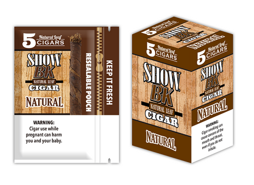 Show BK Cigars Natural 8 Packs of 5