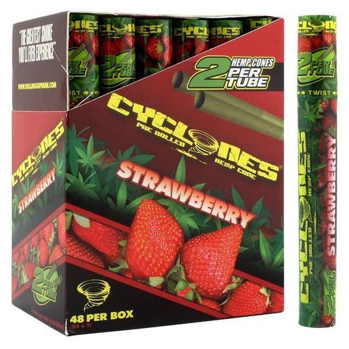 Cyclone Pre-Rolled Hemp Cones Strawberry 24 Packs of 2