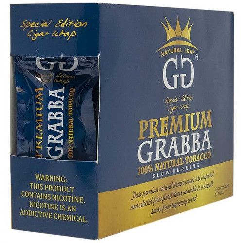 GG Premium Grabba Leaf Tobacco Blue 25Ct