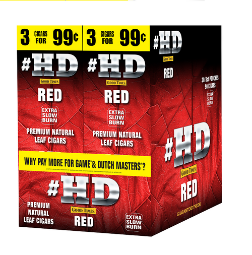 Good Times #HD Cigarillos Red 30 Packs of 3