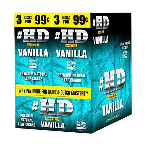 Good Times #HD Cigarillos Vanilla 30 Packs of 3