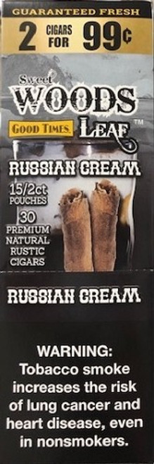 Good Times Sweet Woods Russian Cream 15 Pouches of 2