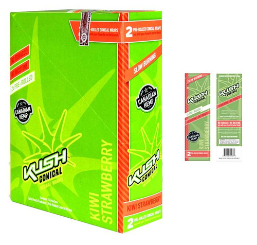 Kush Hebal Hemp Wraps Strarberry Kiwi 25/2