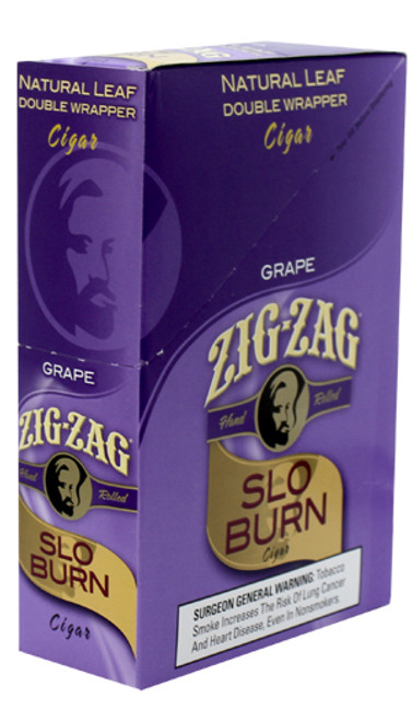 Zig Zag Wraps Slo Burn Grape 15Ct