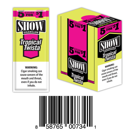 Show Foil Cigarillos 5 for $1 15 Pouches of 5