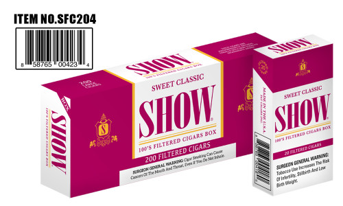 Show Filtered Cigars 10 Packs of 20