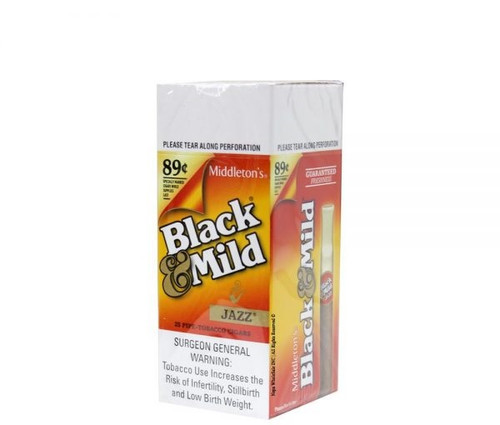 Black & Mild Cigars Jazz 25 Ct Box $0.89 Pre-Priced