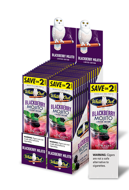 White Owl Cigarillos Blackberry Mojito 30 Pouches of 2
