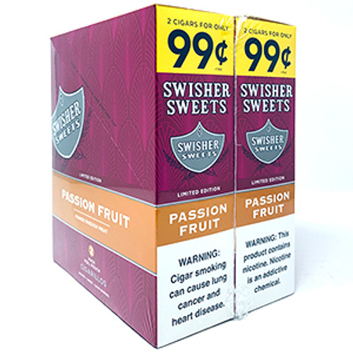 Swisher Sweets Cigarillos Foil Passion Fruit 30 Pouches of 2