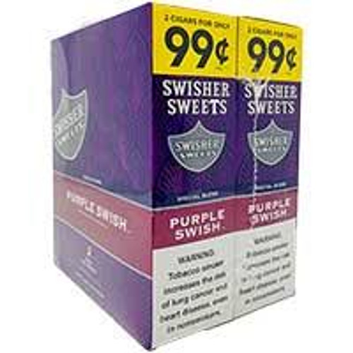 115 of 1313 Swisher Sweets Cigarillos Foil Purple Swish 30 pouches of 2