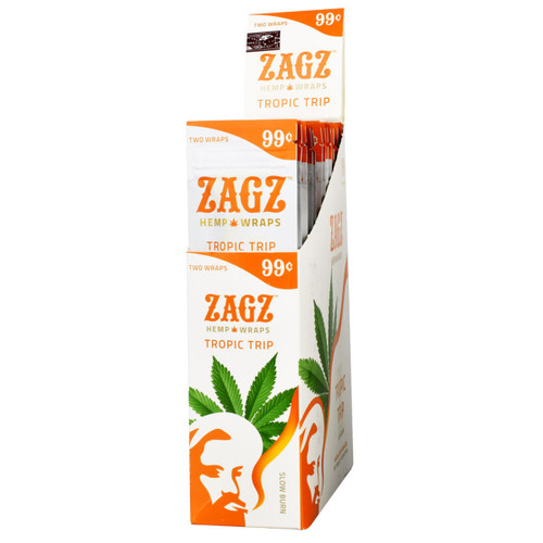 Zags Hemp Wraps Tropic Trip 25Ct/2