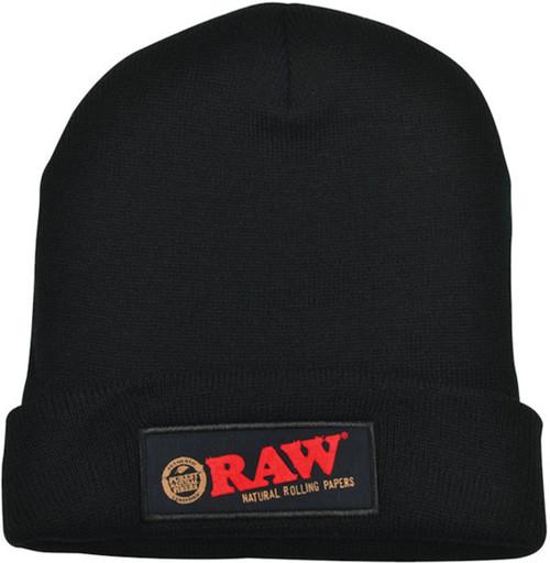 Raw Beanie Hat - Black