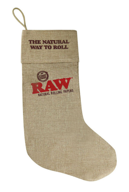 Raw Burlap Holiday Stocking - 17""