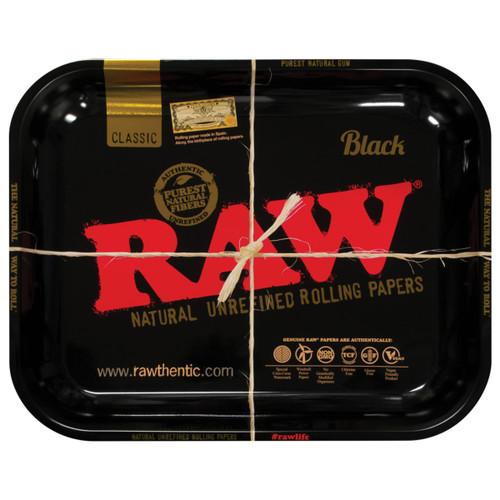 Raw High Sided Steel Rolling Tray