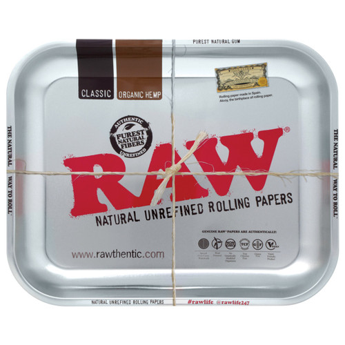 Raw High Sided Steel Rolling Tray
