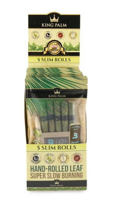 King Palm Pre-Rolls - 5pk w/ Boveda - Slim Size - 15ct