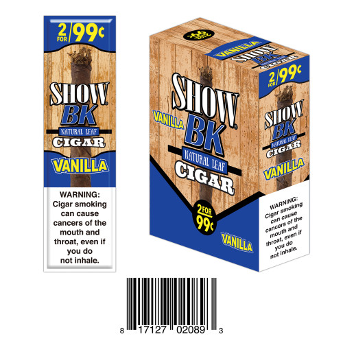 Show Masters Natural Leaf Cigars Vanilla 15 Packs of 2
