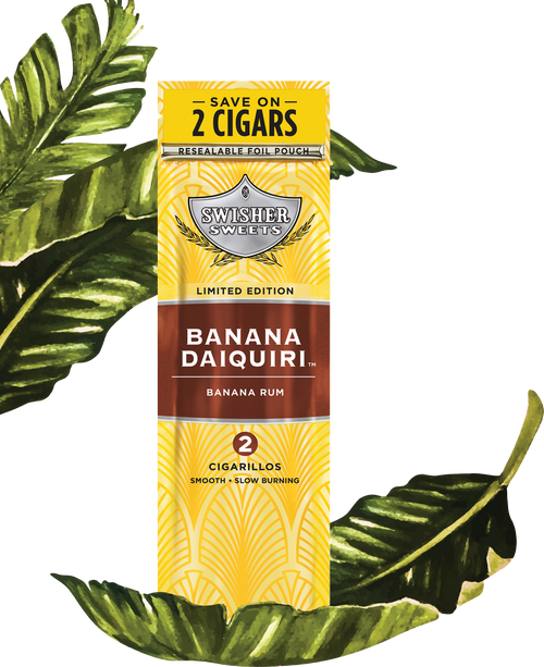 Swisher Sweets Cigarillos Foil Banana Daiquiri 30 Pouches of 2
