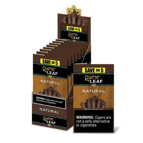 Game Leaf Cigars Natural 8 Packs of 5