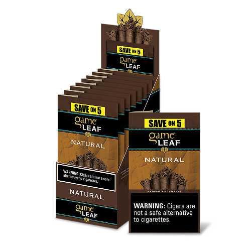 Game Leaf Cigars Natural 8 Packs of 5