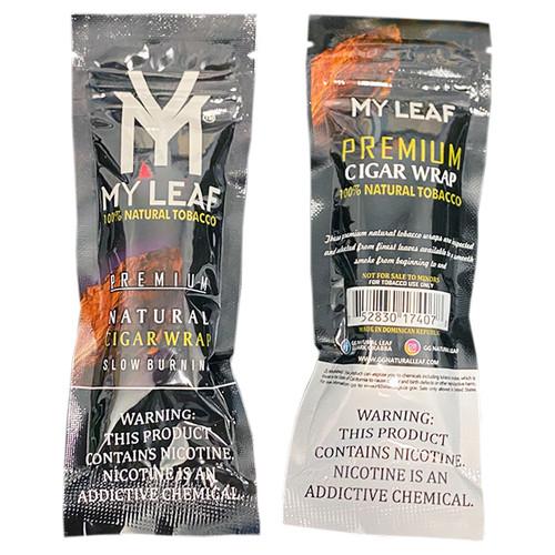 MY Leaf Black Natural Tobacco Leaf Wrap
