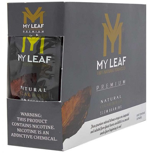 MY Leaf Silver Natural Tobacco Leaf Wrap