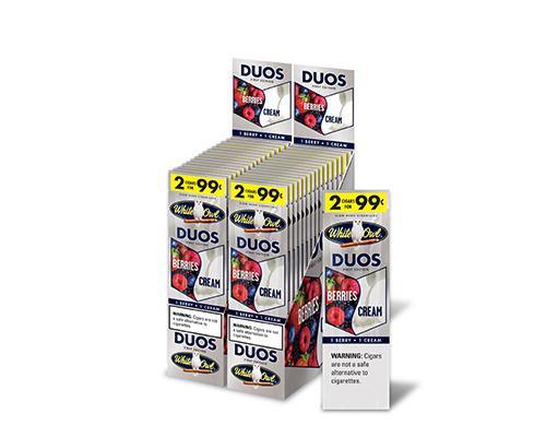 White Owl Cigarillos Duos Berry Cream 30 Pouches of 2