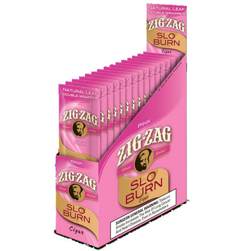Zig Zag Wraps Slo Burn Pink 15Ct